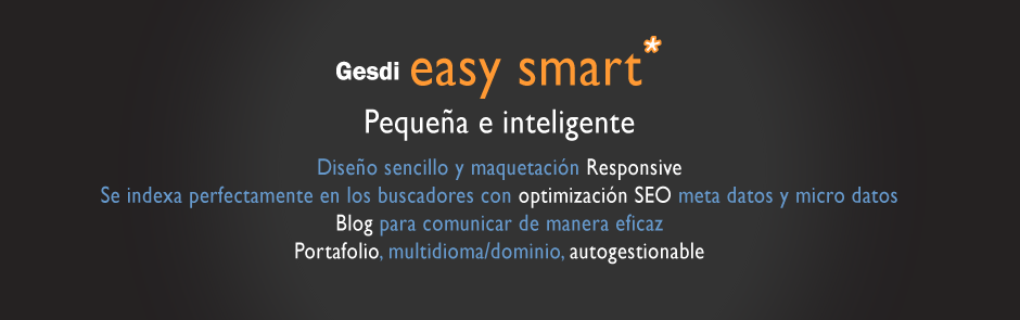 Gesdi Easy Smart* Pequeña e inteligente. Web Drupal 7