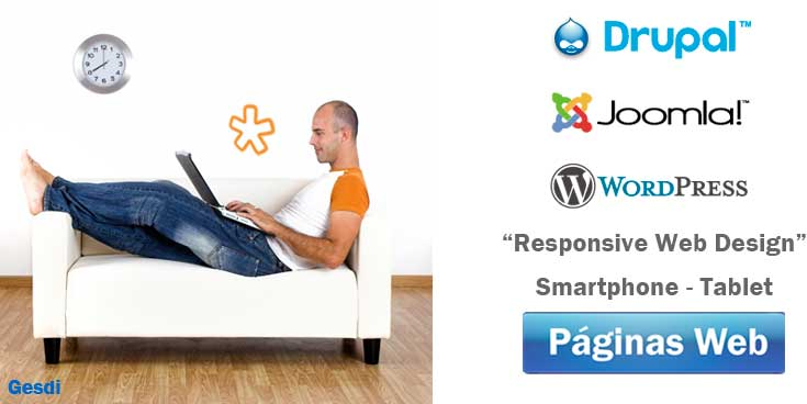 Páginas web Gesdi: Drupal, Joomla y Wordpress