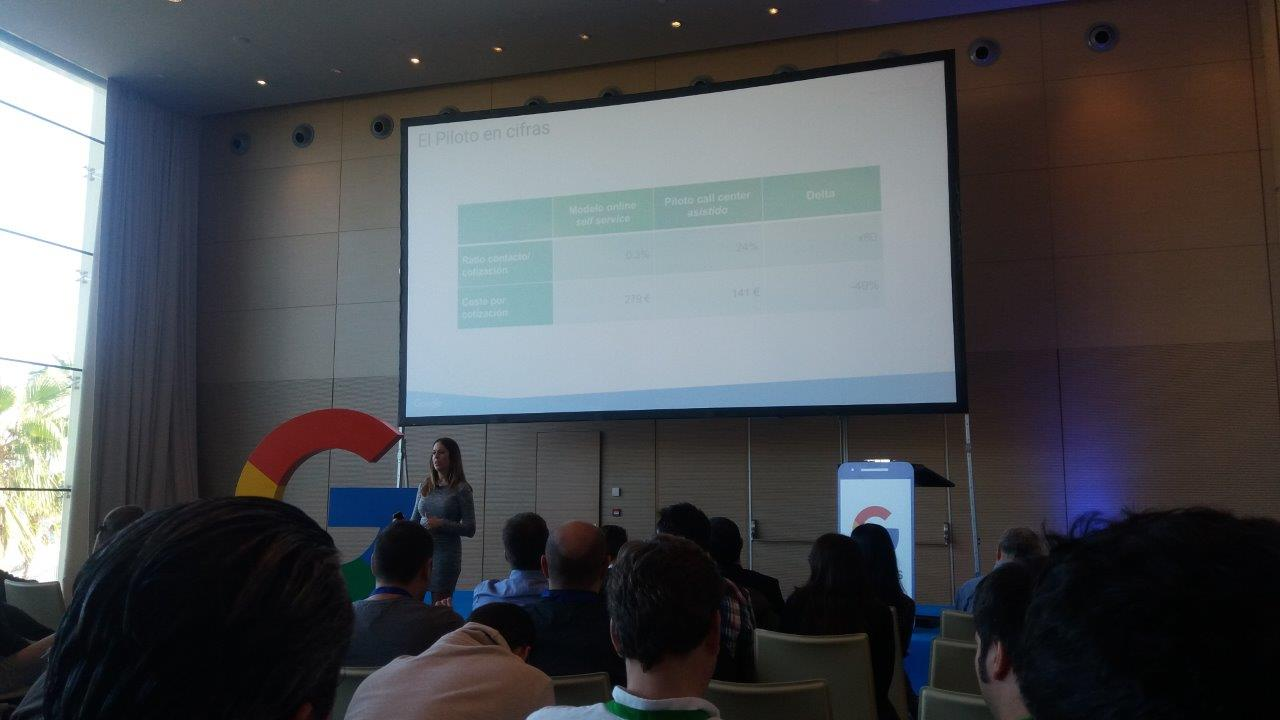 Evento Google Partners Mobile Labs, Hotel W de Barcelona - Prueba piloto, cifras call center