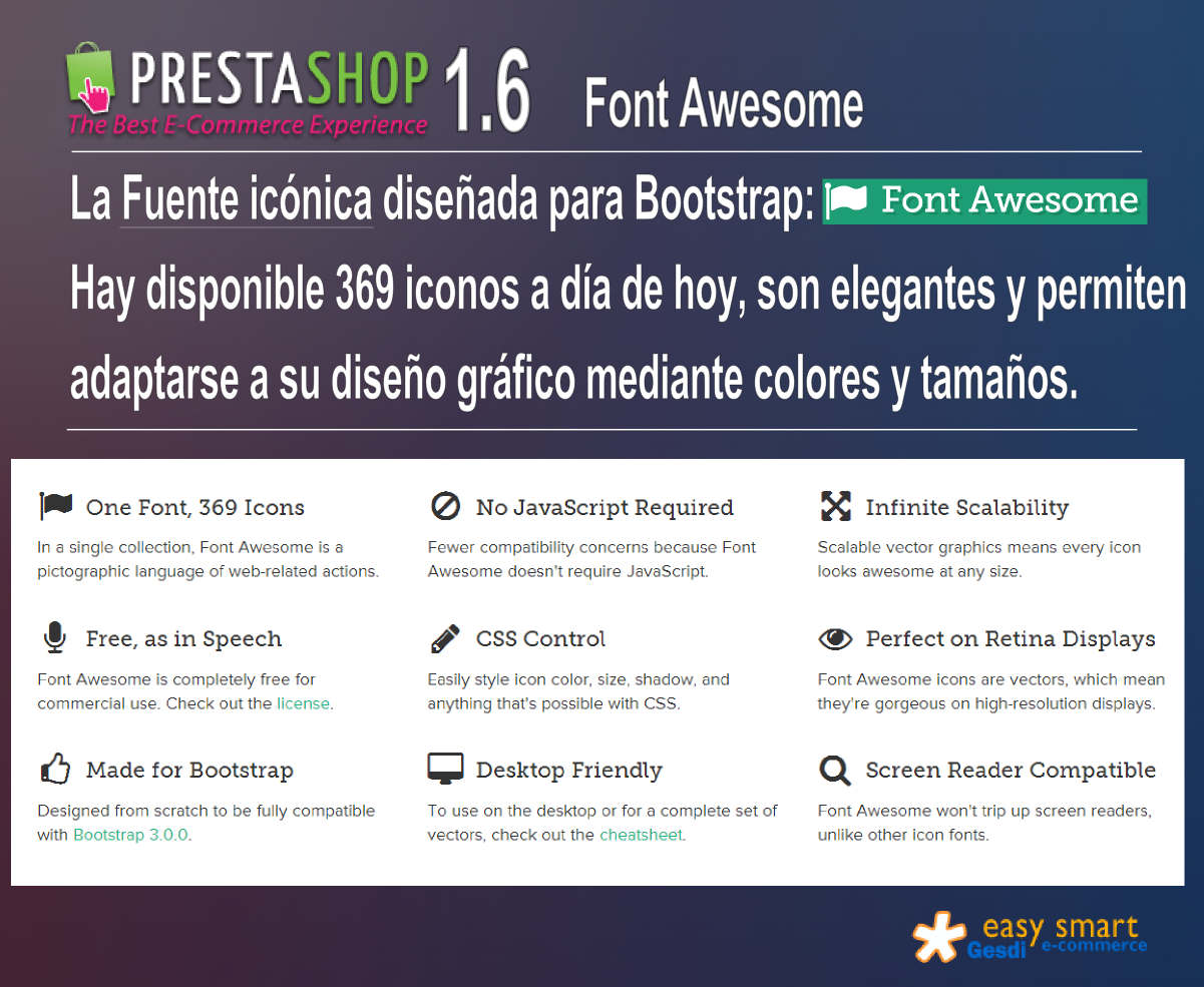 Prestashop 1.6 Font Awesome